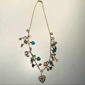 Cutie Charm Necklace with Hearts, Cupids, Love